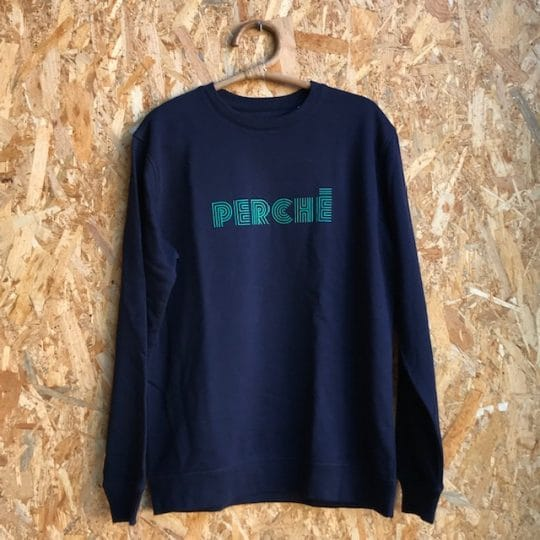 sweat shirt adulte bleu bio Perché