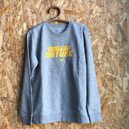 sweat shirt adulte gris bio Super Nature