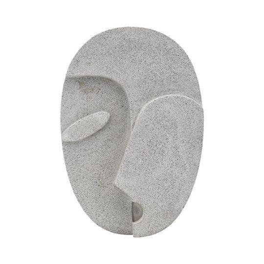 visage en ciment House Doctor, élément mural de décoration atypique