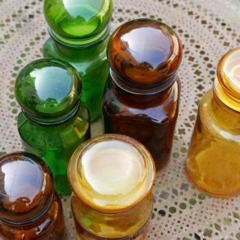 Flacon en verre vintage