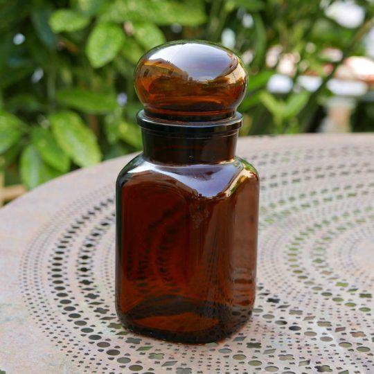flacon vintage marron