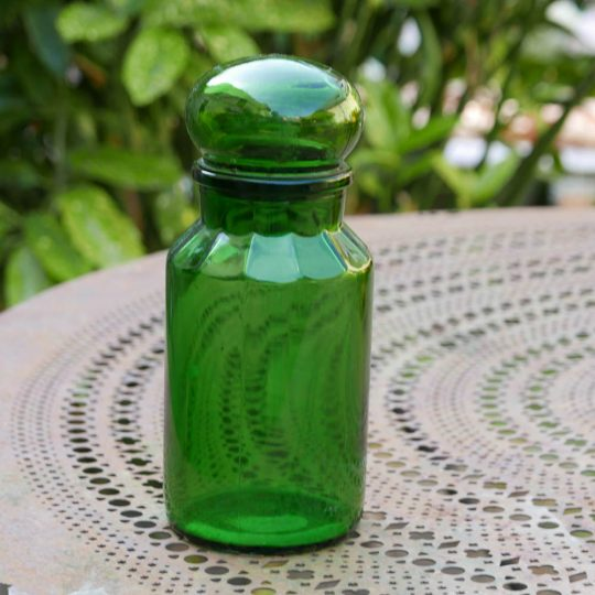 flacon vintage vert