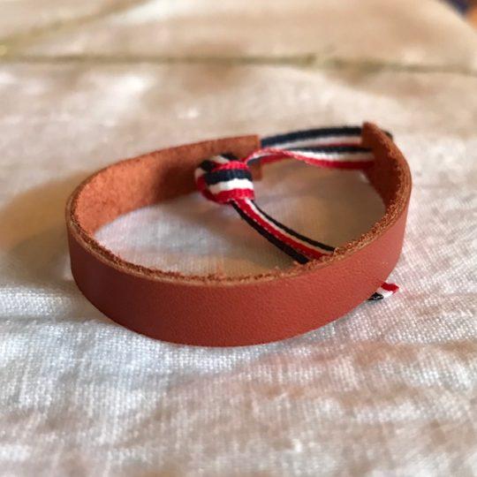 bracelet en cuir marron