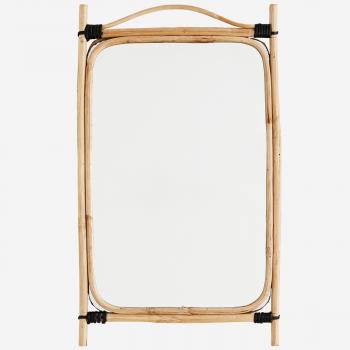 Miroir avec cadre en bambou