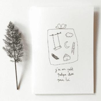 Carte postale Quelque chose