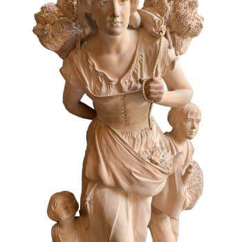 """""""La Paysanne"""" Statue en terre cuite"""
