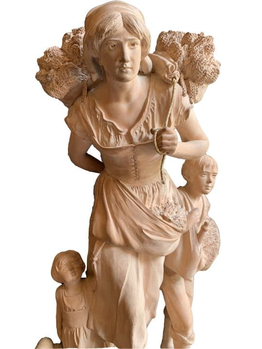la paysanne statue terre cuite affaire conclue détail