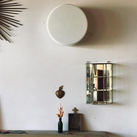 applique murale plafonnier opaline blanc vintage brocante luminaire
