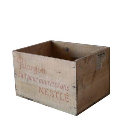 caisse bois vintage