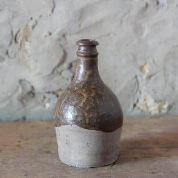 Vase en grès émaillé partiellement