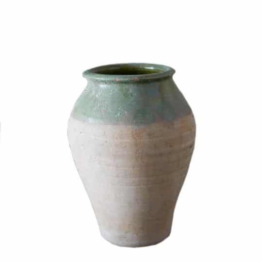 Vase en terre cuite bicolore