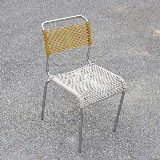 Chaise scoobidou jaune blanc