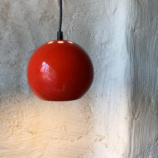 suspension boule orange vintage original