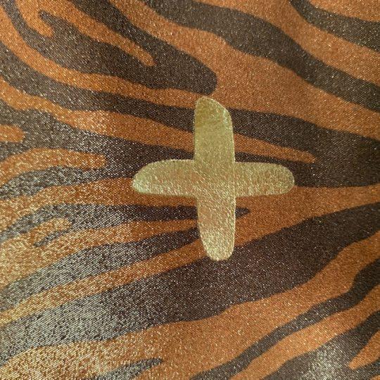 Pochette en cuir zebre naturel