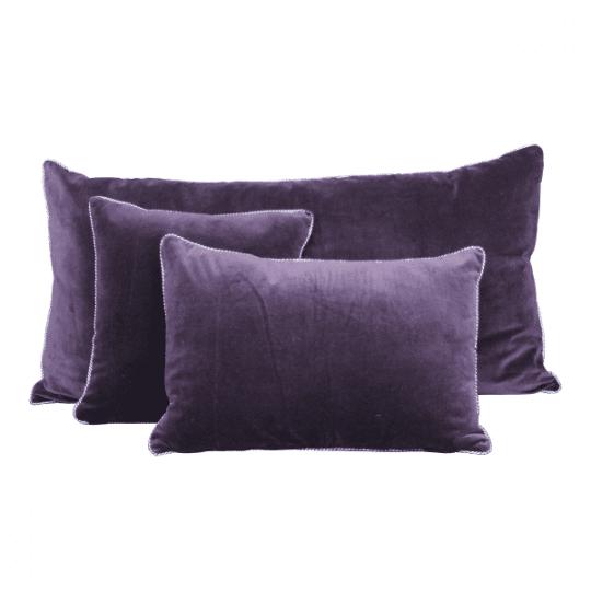 coussin velours dehli purple violet harmony