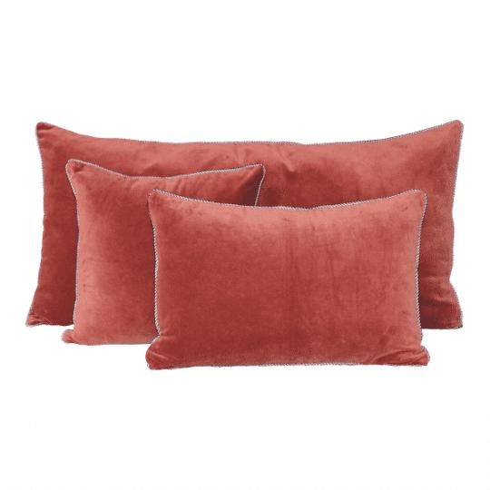 coussin velours dehli harmony argile rouge