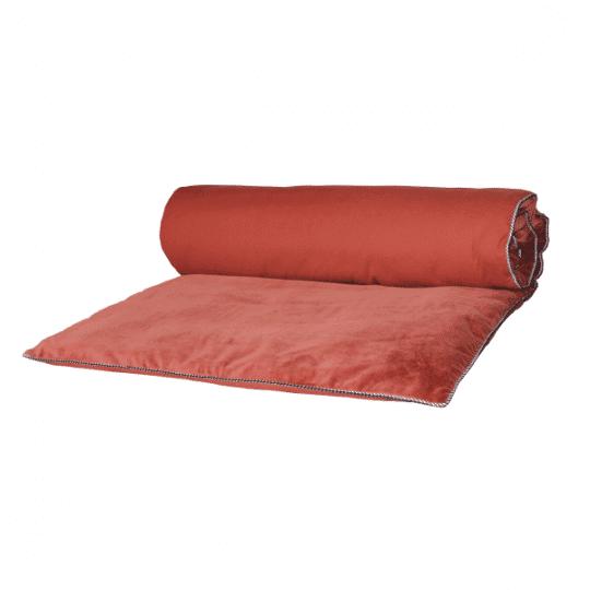 édredon courte pointe velours argile rouge harmony