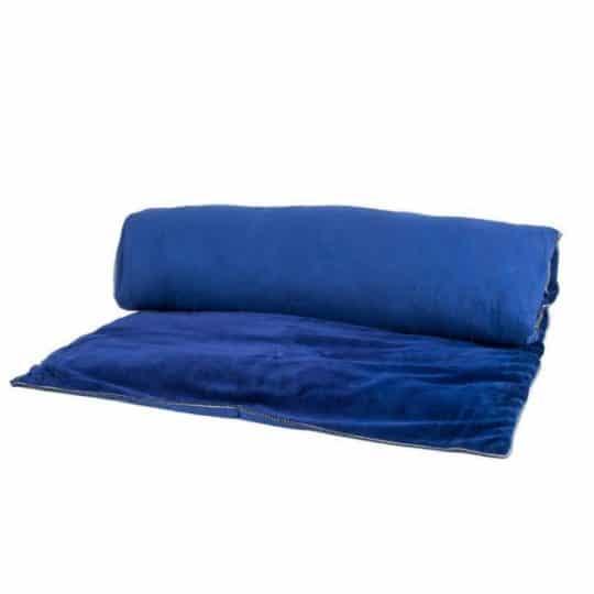 édredon courte pointe velours indigo bleu harmony