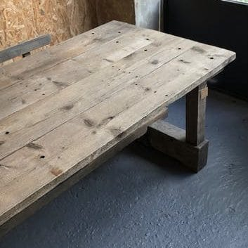 Table d'atelier en bois massif