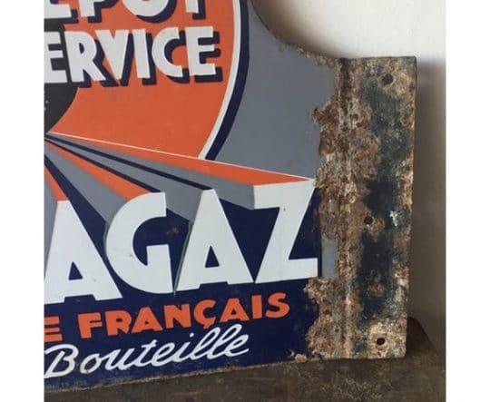 Ancienne plaque en métal brocante