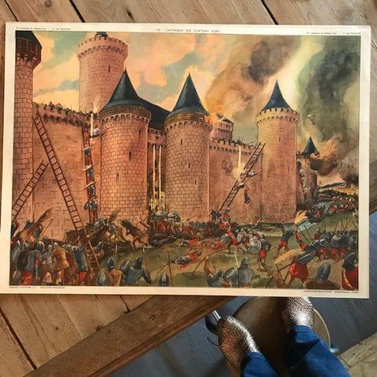 affiche pédagogique vintage Histoire de France