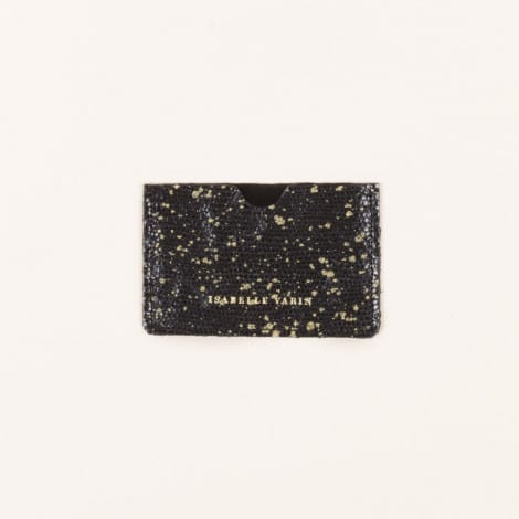 Porte carte plumetis noir