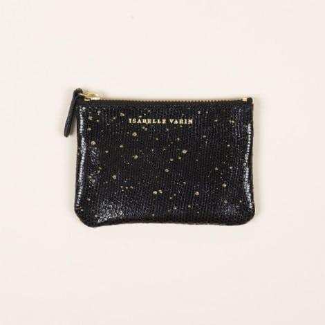 Porte monnaie plumetis noir