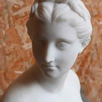 Buste de Diane chasseresse signé Houdon