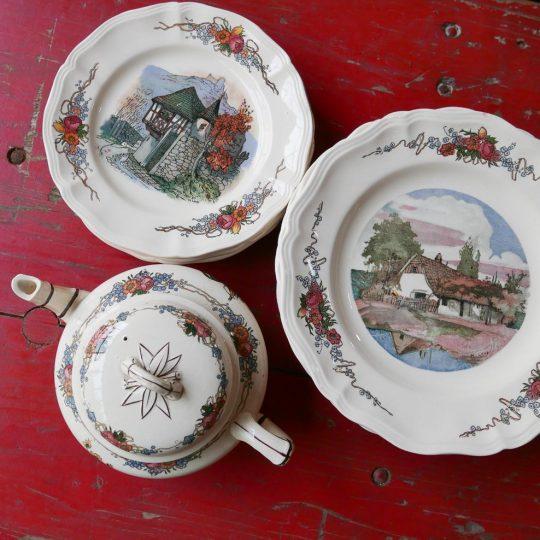 Vaisselle Sarreguemines vintage