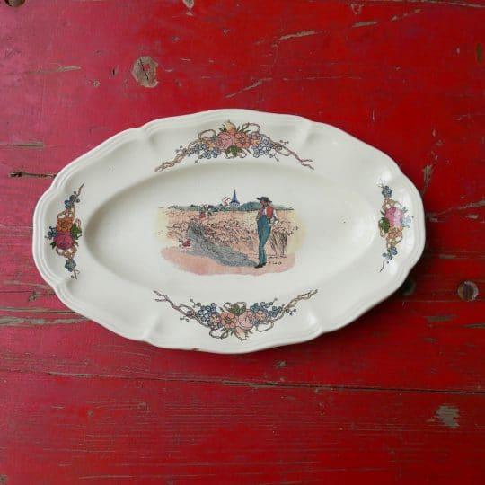 Vaisselle Sarreguemines plat oval
