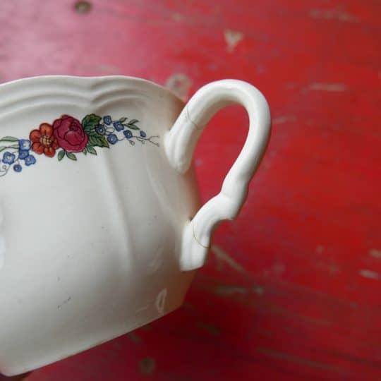 Vaisselle Sarreguemines tasse anse