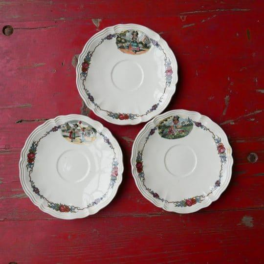 Vaisselle Sarreguemines sous coupe vintage