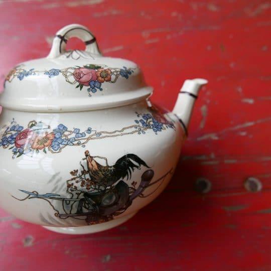 Vaisselle Sarreguemines théières vintage