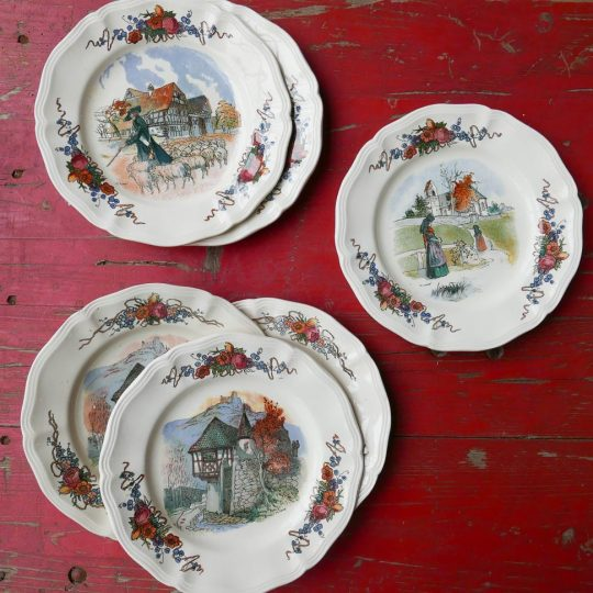 Vaisselle Sarreguemines petites assiettes