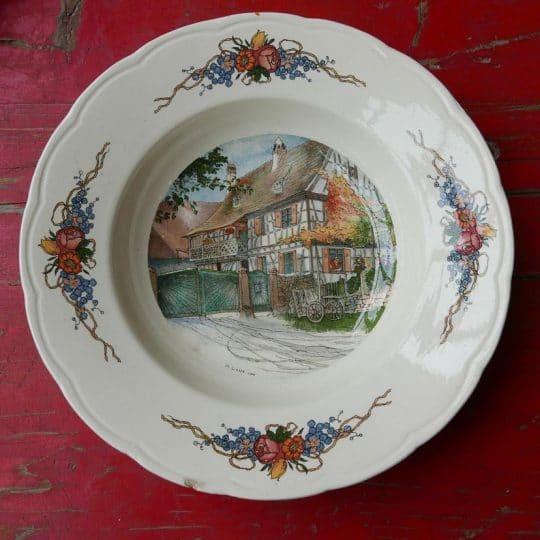 Vaisselle Sarreguemines assiettes creuse