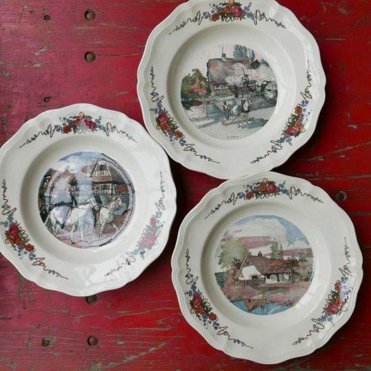Vaisselle Sarreguemines assiettes creuses