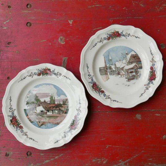Vaisselle Sarreguemines assiettes plates