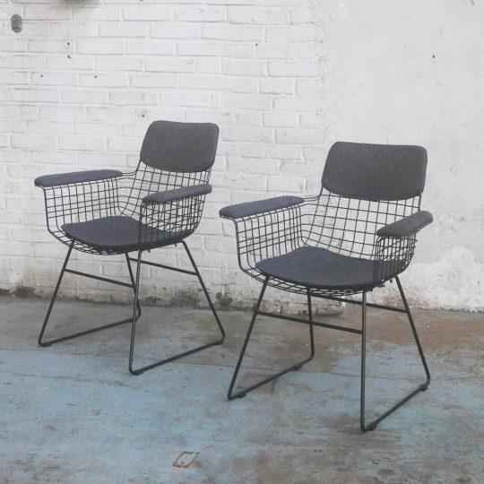 fauteuil en metal noir