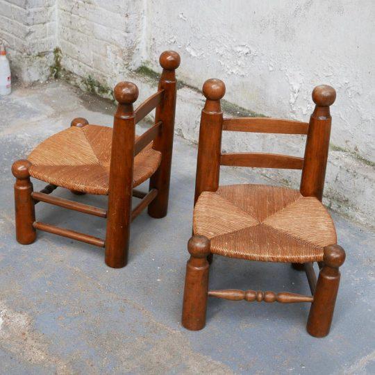 chaise petite paillée
