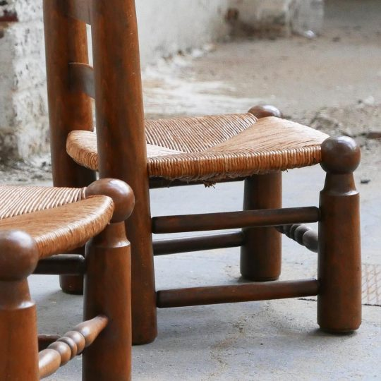 chaise petite paillée vintage
