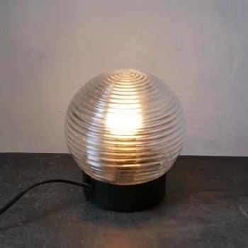 Lampe applique globe en verre