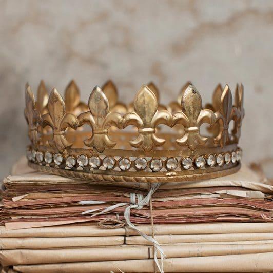 couronne des rois métal doré boncoeurs