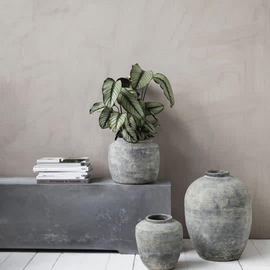 grand vase rustique concrete gris house doctor