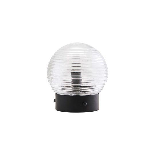 lampe de table applique globe gris