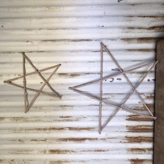 Étoile en bois