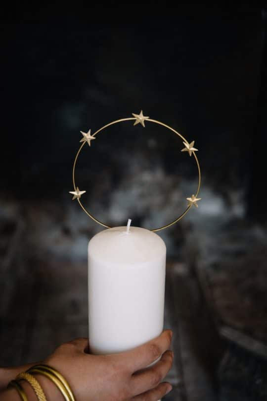 bijou de bougie auréole