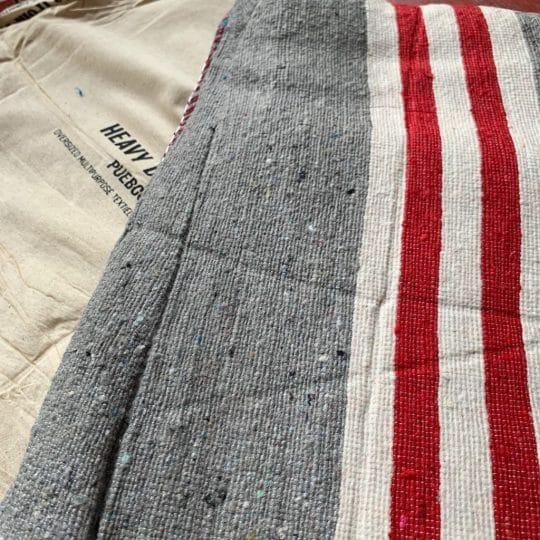 couverture en coton recyclé