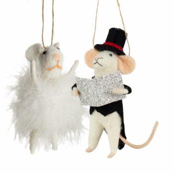 Ensemble de 2 souris festives