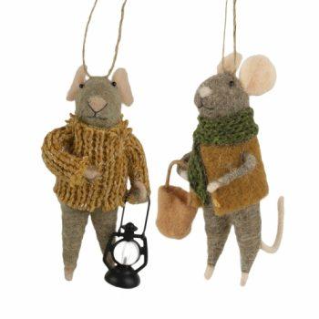 Ensemble de 2 souris avec lanterne
