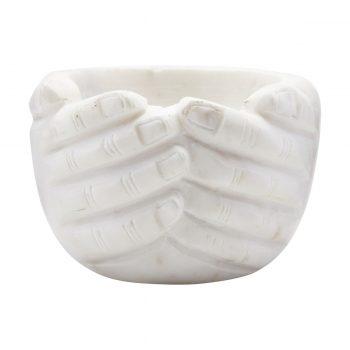 """Bol """"main"""" en marbre"""
